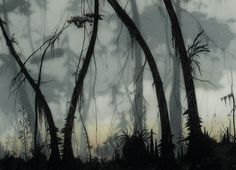 Brooks Salzwedel, another artist who does amazing work with layers of paint and resin, a la Faryn Davis.