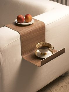 SofaTray // custom made to measure tray that holds your tea, book, remotes and little essentials by the couch arm #product_design #furniture_design