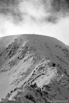 Looking to the summit of Helvellyn from Striding Edge