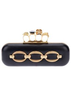 Alexander McQueen 'Knucklebox' Clutch ! <3 Dazzle your weekend with this thing and enjoy the attention