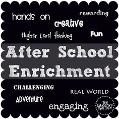 """After School Enrichment Community on Google +...join us! A place for parents & teachers to share the resources they've discovered and created to support their child's learning, discoveries, creativeness and fun """"After School"""" .....because learning never ends even after the school bell rings."""