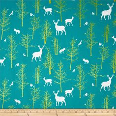 Teal and Metallic Gold quilt weight cotton fabric by the yard. Timber Valley in Teal from Violet Craft Brambleberry Ridge collection for Michael Miller Fabrics. Cotton/ wide Brand new unwashed fabric. Only 2 yards left Deer Fabric, Woodland Fabric, Buy Fabric, Michael Miller Fabric, Gold Foil Print, Polka Dot Fabric, Woodland Creatures, Home Decor Fabric, Cotton Quilts