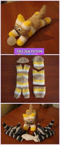 Bekijk de foto van angelwood met als titel Little Kitten/Kitty Cat Sock Toy DIY Tutorial en andere inspirerende plaatjes op Welke.nl.