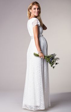9d5131b644 Florence Maternity Wedding Gown Long Ivory by Tiffany Rose