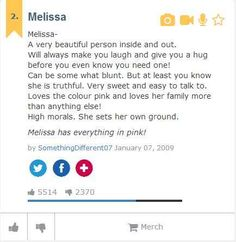 Melissa | The Meaning Of Your Name As Told By Urban Dictionary