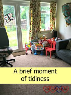 The house looking tidy for a split second - sharing an ode on the joys of a brief moment of tidiness