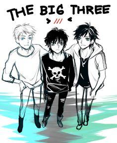 Percy, Jason, Nico the little big three