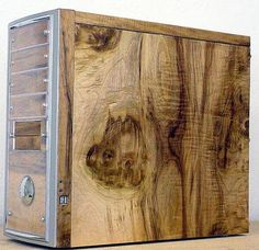 myrtle burl wood computer case photo