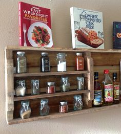 Salvaged Wood Spice Rack   Use this shelf for sugar and spice, and everything nice. But m...   Wall Shelves & Ledges