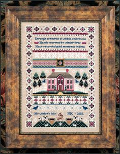 Just Nan - JN136 Winterhaven • Heirloom Counted Thead Cross Stitch Designs from Just Nan
