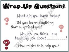 Good idea to use to see if your students understand what they are learning. Would be great to use in guided math groups or guided reading groups as a summarizing tool.