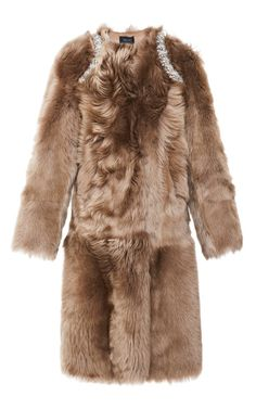 Embellished Shearling Coat by Simone Rocha - Moda Operandi