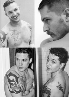 Tom Hardy.....I would make out with him till my face melted off...
