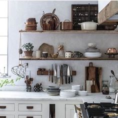 It's All About Texture: These 10 Materials Will Set Your Kitchen Apart — The 2017 Kitchen (Apartment Therapy Main) Old Kitchen, Rustic Kitchen, Country Kitchen, Kitchen Decor, Kitchen Design, Kitchen Ideas, Countryside Kitchen, Nice Kitchen, Diy Kit