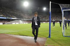 Lazio head coach Simone Inzaghi before the Serie A match between SSC Napoli and SS Lazio at Stadio San Paolo on November 5, 2016 in Naples, Italy.