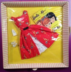 Vtg 1964 Barbie Outfit ~ GARDEN TEA PARTY #1606 ~ NRFB MOC Never Removed Frm Box