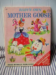 Vintage Baby Books | Mother Goose book Vintage Babys Own Mother Goose