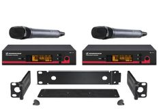 Sennheiser Bundle of 2 EW Wireless HandHeld Mic Systems, EW135 G3 A (516-558 MHz) True Diversity Rack Mount Wireless Microphone System with GA3 Rack-Mount Kit Sennheiser http://www.amazon.com/dp/B0057H8UEE/ref=cm_sw_r_pi_dp_qlKvvb03HCVQP