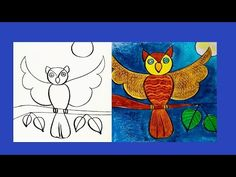 Drawing Videos For Kids, Drawing Lessons For Kids, Beginner Art, Easy Drawings, The Creator, Owl, Youtube, Beauty, Drawing Classes For Kids