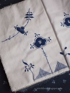 Royal Copenhagen embroidery Hand Embroidery, Embroidery Designs, Artist Point, Blue And White China, Royal Copenhagen, China Patterns, Floral Motif, Hand Stitching, Needlework