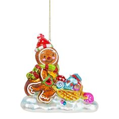 Large Gingerbread Man Glass Christmas Tree Bauble – The Christmas Boutique Christmas Tree Baubles, Gingerbread Man, Boutique, Holiday Decor, Boutiques