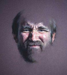 Charles Pfahl - Pastel Self Portrait 1