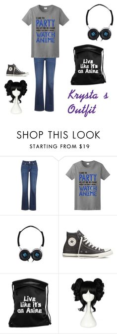 """Kryst's Outfit V1"" by kotabear115 ❤ liked on Polyvore featuring Levi's and Converse"