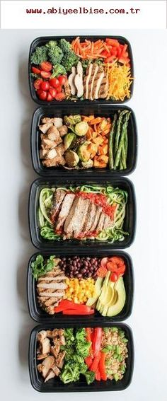 Easy Chicken Meal Prep Bowls: 5 Ways - this is a quick and easy way to have heal. - Easy Chicken Meal Prep Bowls: 5 Ways - this is a quick and easy way to have heal. Easy Chicken Meal Prep Bowls: 5 Ways - this is a quick and easy wa. Lunch Meal Prep, Meal Prep Bowls, Healthy Meal Prep, Healthy Dinner Recipes, Healthy Snacks, Healthy Eating, Keto Recipes, Fast Recipes, Stay Healthy