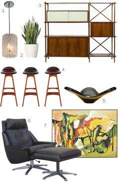 Furniture from Don Draper's new pad. via whorange.  Repinned by Secret Design Studio, Melbourne.  www.secretdesignstudio.com