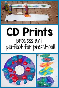 A fun process art project for preschoolers! Kindergarten and older kids will love it too. There's a fun gross motor aspect involved, making it a wonderful learning activity, too!