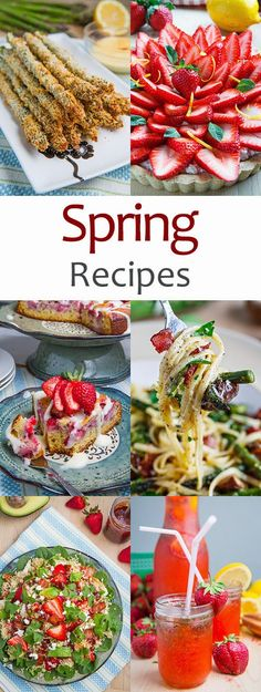 These 50 easy recipes are the perfect spring recipes. I especially love the asparagus and strawberry recipes!
