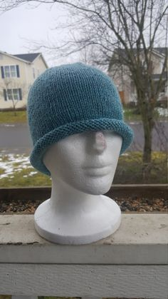 Check out this item in my Etsy shop https://www.etsy.com/listing/497674150/knit-womans-rolled-brim-beanie-knit-with