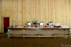 The Farm at Brusharbor  Rustic Wedding & Event Venue  Mount Pleasant, NC  www.TheFarmatBrusharbor.com    #rusticweddingchic #barnwedding #NCWedding #workbenchbuffet