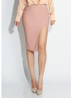 JLUXLABEL MAUVE 'Give it a Slit' Skirt