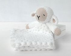 Sleepy Sheep Lovey Pattern   Security Blanket   Crochet Lovey   Lamb Lovey Toy   Blanket Toy   Lovey Blanket PDF Crochet Pattern