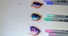 Marvelous Learn To Draw Manga Ideas. Exquisite Learn To Draw Manga Ideas. Copic Drawings, Art Drawings Sketches, Cute Drawings, Realistic Eye Drawing, Manga Drawing, Drawing Artist, Amazing Drawings, Amazing Art, Awesome