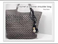 (코바늘 가방뜨기)/how to a Crochet bag/뜰래아 - YouTube