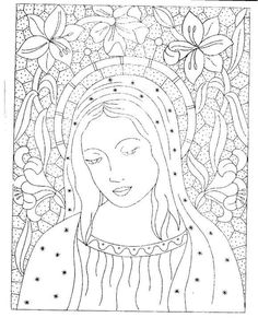 Polish Embroidery, Iron On Embroidery, Embroidery Transfers, Embroidery Patterns Free, Cross Stitch Patterns, Embroidery Designs, Catholic Art, Religious Art, Catholic Wallpaper