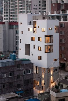 Morning Dew Guesthouse is designed by Architects Group RAUM located in Busan South Korea Photo by Via - - Architecture and Home Decor - Bedroom - Bathroom - Kitchen And Living Room Interior Design Decorating Ideas - Contemporary Building, Contemporary Architecture, Contemporary Interior, Contemporary Wallpaper, Contemporary Stairs, Contemporary Cottage, Contemporary Apartment, Contemporary Chandelier, Contemporary Office