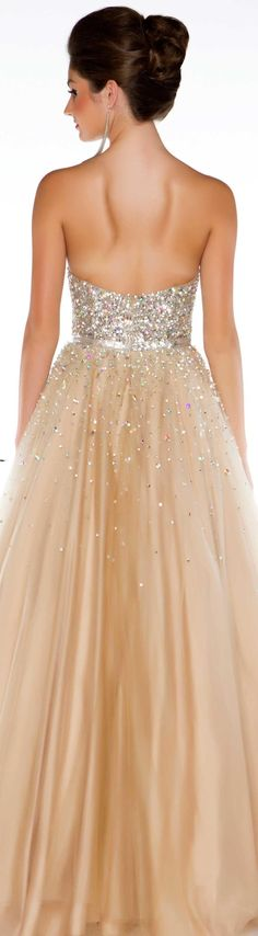 Mac Duggal couture dress nude/silver  STYLE 61184H