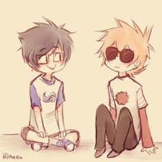 Homestuck - Dave and John
