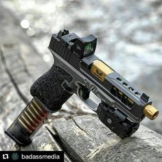 #Repost @badassmedia with @repostapp #TBT... Two Weeks. This G19 Project is off getting tuned for perfection to run suppressed. - @DangerCloseArmament Framework @Precision_Syndicate_Llc Slide Machining @Rebellion_Custom_Firearms Frame Cerakote @Trijicon RMR @CrimsonTrace Railmaster Pro @S3FSolutions Barrel @ApexTactical Trigger @ETSGroup Magazine - Photo by me. - Business: Rylan
