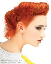 Vintage updo for red hair