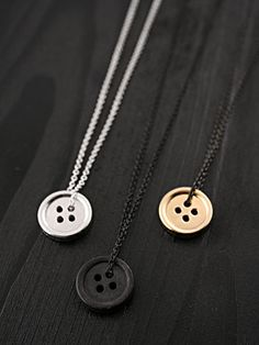 Alex & Chloe button pendants