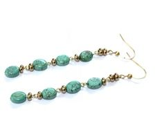 Earrings - Gold & Turquoise - by Petra Reijrink