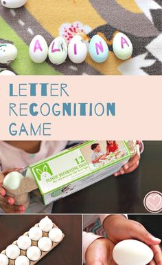 Combine letter games with seasonal Easter crafts for kids and we're having fun all day long! Alphabet Activities, Fun Activities For Kids, Literacy Activities, Letter Recognition Games, Letter Games, Easter Hunt, Plastic Easter Eggs, Cool Lettering, Easter Crafts For Kids