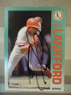 1992 Fleer #583 Ray Lankford (In Person)