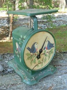 Painted Vintage Kitchen/General store scale