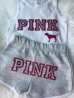 Love PINK inspired baby girl toddler clothes outfit – Baby For look here Cute Lazy Outfits, Cute Swag Outfits, Kids Outfits Girls, Sporty Outfits, Pink Outfits, Toddler Girl Outfits, Teenager Outfits, Teen Fashion Outfits, Girl Toddler