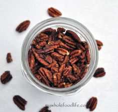 Slow Cooker Maple Glazed Pecans  #MyWholeFoodLife